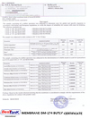 Membrane DM-174 Butly Certificates